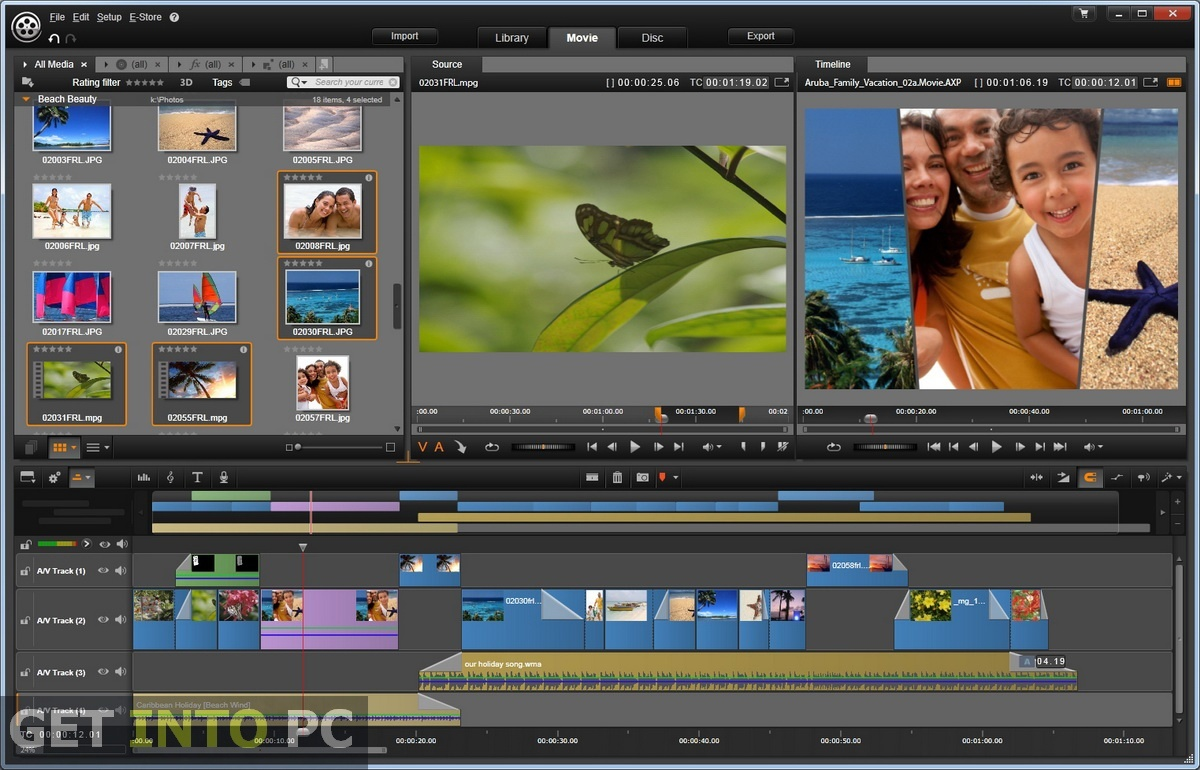 about vitamin media screenshot of non-linear editing software