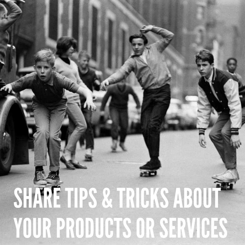 Tips & Tricks Add Value For Your Customers